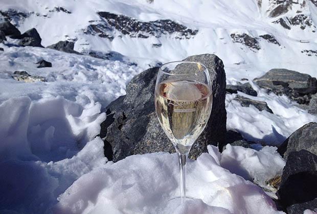 Test de champagnes en altitude