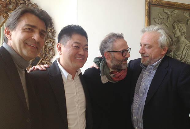 Yannick Alleno, Narisawa San, Massimo Bottura, David Scabin, encore sourires