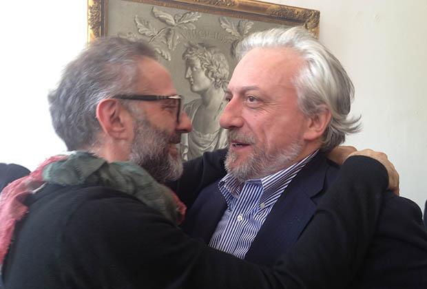 Massimo Bottura et David Scabin, ce midi, on s'aimait encore