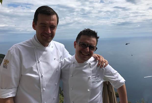 Arnaud Faye (gche) et son fidèle pâtissier, Julien Dugourd