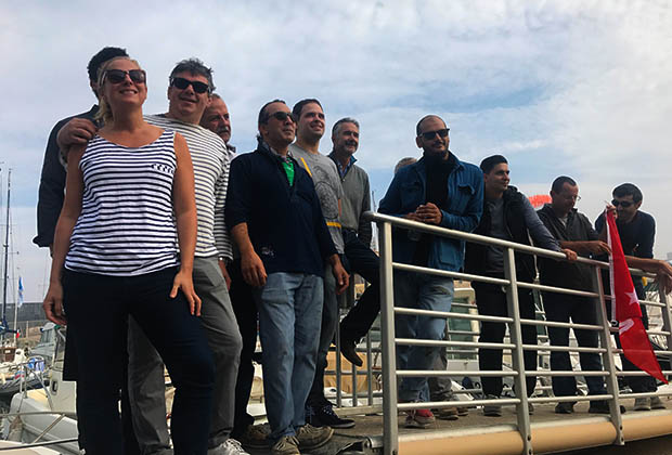 Les chefs, de G à D: belle Lurette, Pierre Gianetti, Rodolphe Bodikian, Nicolas Doussière, Pierre Antoine Denis, Ludovic Turac, Pierre André Aubert