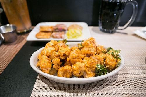 """Fried Alligator with Chili Garlic Mayonn. ©City Foodsters"